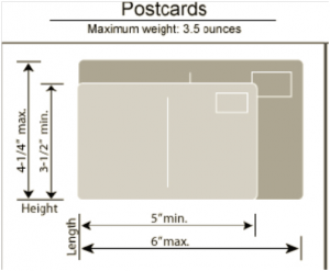 postcard dimensions for USPS